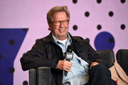 """Musician Eric Clapton speaks onstage at """"Eric Clapton: Life In 12 Bars"""" press conference during 2017 Toronto International Film Festival at TIFF Bell Lightbox on September 11, 2017 in Toronto, Canada."""
