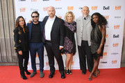 """(L-R) Pamela Adlon, Charlie Day, Louis C.K., Edie Falco, John Malkovich, and Ebonee Noel attend the """"I Love You Daddy"""" premiere during the 2017 Toronto International Film Festival at Ryerson Theatre on September 9, 2017 in Toronto, Canada."""