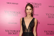 Model Bruna Lirio attends the 2017 Victoria's Secret Fashion Show In Shanghai After Party at Mercedes-Benz Arena on November 20, 2017 in Shanghai, China.
