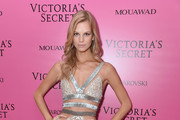 Model Nadine Leopold attends the 2017 Victoria's Secret Fashion Show In Shanghai After Party at Mercedes-Benz Arena on November 20, 2017 in Shanghai, China.