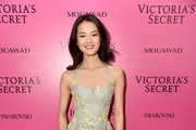 Model Xin Xie attends the 2017 Victoria's Secret Fashion Show In Shanghai After Party at Mercedes-Benz Arena on November 20, 2017 in Shanghai, China.