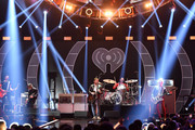 Jared Followill, Caleb Followill, Nathan Followill and Matthew Followill of Kings of Leon perform onstage during the 2017 iHeartRadio Music Festival at T-Mobile Arena on September 23, 2017 in Las Vegas, Nevada.