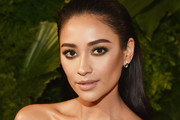 Actor Shay Mitchell attends the 2018 A+E Upfront on March 15, 2018 in New York City.