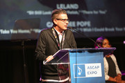 "(L-R) Vice President, Pop/Rock, Membership at ASCAP Marc Emert-Hutner and Singer/Songwriter Andrea Martin speak onstage at the '13th Annual Writers Jam' during The 2018 ASCAP ""I Create Music"" EXPO at Loews Hollywood Hotel on May 9, 2018 in Hollywood, California."