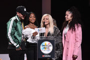 Kane Brown, Normani, Bebe Rexha and Ella Mai attend the 2018 American Music Awards Nominations Announcement at YouTube Space LA on September 12, 2018 in Los Angeles, California.