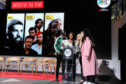 """Kane Brown, Normani, Bebe Rexha, Ella Mai speak onstage during  The """"2018 American Music Awards"""" Nominations at YouTube Space LA on September 12, 2018 in Los Angeles, California."""