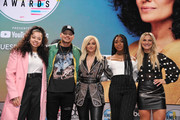 """(L-R) Ella Mai,  Kane Brown, Bebe Rexha, Normani and Chelsea Briggs  attend The """"2018 American Music Awards"""" Nominations at YouTube Space LA on September 12, 2018 in Los Angeles, California."""