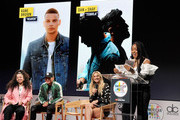 """Ella Mai, Kane Brown, Chelsea Briggs and Normani speak onstage during The """"2018 American Music Awards"""" Nominations at YouTube Space LA on September 12, 2018 in Los Angeles, California."""