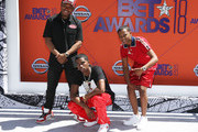 (L-R) Kai Ca$h, Christian Combs and Bay Swag attend the 2018 BET Awards at Microsoft Theater on June 24, 2018 in Los Angeles, California.