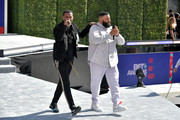 Nick Grant (L) and DJ Khaled perform onstage at Live! Red! Ready! Pre-Show, sponsored by Nissan, at the 2018 BET Awards at Microsoft Theater on June 24, 2018 in Los Angeles, California.