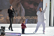 (L-R)  Nick Grant, Asahd Tuck Khaled, and DJ Khaled perform onstage at Live! Red! Ready! Pre-Show, sponsored by Nissan, at the 2018 BET Awards at Microsoft Theater on June 24, 2018 in Los Angeles, California.