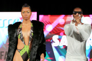 Safaree Samuels (R) performs at BETHer Presents Fashion & Beauty during the 2018 BET Experience at Los Angeles Convention Center on June 23, 2018 in Los Angeles, California.