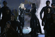 Recording artists Christina Aguilera (L) and Demi Lovato perform onstage during the 2018 Billboard Music Awards at MGM Grand Garden Arena on May 20, 2018 in Las Vegas, Nevada.