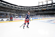 Marc Staal #18 of the New York Rangers takes the ice for practice at Citi Field on December 31, 2017 in the Flushing neighborhood of the Queens borough of New York City. The team will take part in the 2018 Bridgestone NHL Winter Classic on New Years Day.