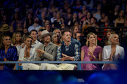 Brittney Marie Kelley, Brian Kelley and Tyler Hubbard of Florida Georgia Line, Hayley Hubbard and RaeLynn attend the 2018 CMT Music Awards at Bridgestone Arena on June 6, 2018 in Nashville, Tennessee.