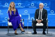 CoFounder of All Hands and Hearts-Smart Response Petra Nemcova (L) and CEO of the Fiore Group and Founder and President of Radcliffe Foundation Frank Giustra speak onstage during the 2018 Concordia Annual Summit - Day 2 at Grand Hyatt New York on September 25, 2018 in New York City.
