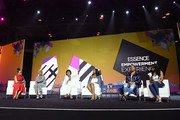 (L-R) Angela Rye, Mary J. Blige, Maxine Waters, Alencia Johnson, Queen Latifah and Remy Ma speak onstage during the 2018 Essence Festival presented by Coca-Cola at Ernest N. Morial Convention Center on July 6, 2018 in New Orleans, Louisiana.