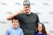 NBA player Cole Aldrich (C) and guests attend the 2018 Big Game Weekend Hearing Mission With Starkey Hearing Technologies on February 3, 2018 in Minneapolis, Minnesota.