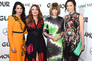(L-R) Huma Abedin, Glamour Editor-in-Chief Samantha Barry, Anna Wintour, and Wendi Deng attend the 2018 Glamour Women Of The Year Awards: Women Rise on November 12, 2018 in New York City.