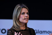 "Savannah Guthrie speaks onstage during ""Closing The Dream Gap: Showing Girls (and Ourselves) What's Next"" panel at 2018 Glamour Women Of The Year Summit:  Women Rise at Spring Studios on November 11, 2018 in New York City."