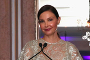 Ashley Judd accepts the 2018 Changemaker Award onstage during the Changemaker Gala at L'Escale Restaurant during the 2018 Greenwich International Film Festival on May 31, 2018 in Greenwich, Connecticut.