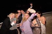 (L-R) InStyle Magazine Editor in Chief Laura Brown, Clare Waight Keller, Jeff Goldblum, Chris McMillan, Julia Roberts, Elizabeth Stewart, James Kaliardos, Karla Welch, and Constance Wu attend the 2018 InStyle Awards at The Getty Center on October 22, 2018 in Los Angeles, California.