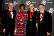 (L-R) Ron Chernow, Claudia Rankine, Elizabeth Strout and Francis Ford Coppola attend the New York Public Library 2018 Library Lions Gala at the New York Public Library at the Stephen A. Schwarzman Building on November 5, 2018 in New York City.