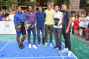 Serena Williams, Venus Williams, Rafael Nadal, Alexander Zverev, Mischa Zverev and Nick Kyrgios attend 2018 Lotte New York Palace Invitational on August 23, 2018 in New York City.
