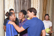 Serena Williams, Venus Williams, Rafael Nadal and Mischa Zverev attend 2018 Lotte New York Palace Invitational on August 23, 2018 in New York City.