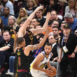 Kevin Love and Stephen Curry Photos