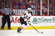 James Neal #18 of the Vegas Golden Knights carries the puck against the Washington Capitals during the second period in Game Four of the 2018 NHL Stanley Cup Final at Capital One Arena on June 4, 2018 in Washington, DC.