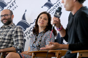 (L-R) Robert Greene, Lisa D'Apolito and Tom Cavanagh attend Morning Coffee at the 2018 Nantucket Film Festival - Day 5 on June 24, 2018 in Nantucket, Massachusetts.