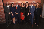 (L-R) Tim Pastore, Courteney Monroe, Gary E. Knell, Susan Goldberg, Carolyn Bernstein, Geoff Daniels and Jill Cress attend National Geographic's FURTHER Front immersive experience where the network took over a SoHo townhouse to unveil their upfront 2018-2019 slate on April 18, 2018 in New York City.