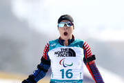 Oksana Masters of the United States crosses the finish line during the Women's 6 km Sitting Biathlon competition at Alpensia Biathlon Centre on Day 1 of the PyeongChang 2018 Paralympic Games on March 10, 2018 in Pyeongchang-gun, South Korea.