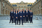 The player of Team Europe pose together on the steps of the Palace of Versailles prior to the Ryder Cup Gala ahead of the 2018 Ryder Cup on September 26, 2018 in Versailles, France.