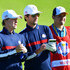 Luke Wilson Photos - Greg Kinnear of Team USA and Luke Wilson of Team USA in discussion during the celebrity challenge match ahead of the 2018 Ryder Cup at Le Golf National on September 25, 2018 in Paris, France. - 2018 Ryder Cup - Previews