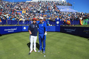 Sergio Garcia of Europe faces Rickie Fowler of the United States during singles matches of the 2018 Ryder Cup at Le Golf National on September 30, 2018 in Paris, France.