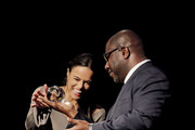 Michelle Rodriguez and Steve McQueen attend the 2018 SFFILM Awards at Palace Of Fine Arts Theater on December 3, 2018 in San Francisco, California.