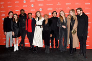 "(L-R) Lukas Gage, Maude Apatow, Colman Domingo, Kevin Harrison Jr, Suki Waterhouse, Anika Noni Rose, Danny Ramirez, Odessa Young, Han Nef, and Sam Levinson attend the ""Assassination Nation"" Premiere during the 2018 Sundance Film Festival at Park City Library on January 21, 2018 in Park City, Utah."