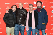 """(L-R) Chairman of Sony Pictures Motion Picture Group Tom Rothman, Director Samuel Maoz, Actor Lior Ashkenazi and Michael Weber attend the """"Foxtrot"""" Premiere during the 2018 Sundance Film Festival at Park City Library on January 23, 2018 in Park City, Utah."""