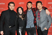 (L-R) Actor Colt Prattes and creators/writers/actors Shoshannah Stern and Josh Feldman and filmmaker Andrew Ahn attend the Indie Episodic Program 2 during the 2018 Sundance Film Festival at Park Avenue Theater on January 23, 2018 in Park City, Utah.