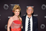 Art Garfunkel (R) and wife Kim Garfunkel attend the 2018 Paley Honors at Cipriani Wall Street on May 15, 2018 in New York City.