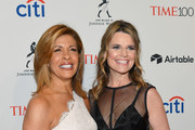 Television hosts Hoda Kotb and Savannah Guthrie attend the 2018 Time 100 Gala at Jazz at Lincoln Center on April 24, 2018 in New York City.