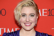 Actor Greta Gerwig attends the 2018 Time 100 Gala at Jazz at Lincoln Center on April 24, 2018 in New York City.