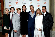 "(L-R) Taylor Hickson, Josh Wiggins, Darren Mann, Allison Black, Keith Behrman, Maria Bello, and Kyle MacLachlan attend the ""Giant Little Ones"" premiere during 2018 Toronto International Film Festival at The Elgin on September 9, 2018 in Toronto, Canada."