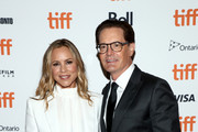 "Maria Bello (L) and Kyle MacLachlan attend the ""Giant Little Ones"" premiere during 2018 Toronto International Film Festival at The Elgin on September 9, 2018 in Toronto, Canada."