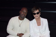 Corey Gamble and Kris Jenner attend the 2018 Victoria's Secret Fashion Show in New York at Pier 94 on November 8, 2018 in New York City.