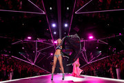 Maggie Laine walks the runway during the 2018 Victoria's Secret Fashion Show at Pier 94 on November 8, 2018 in New York City.