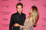 Laurens van Leeuwen and Romee Strijd attends the 2018 Victoria's Secret Fashion Show After Party on November 8, 2018 in New York City.