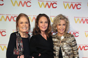 (L-R) Gloria Steinem, Diane Lane, and Jane Fonda attend the 2018 Women's Media Awards at Capitale on November 1, 2018 in New York City.